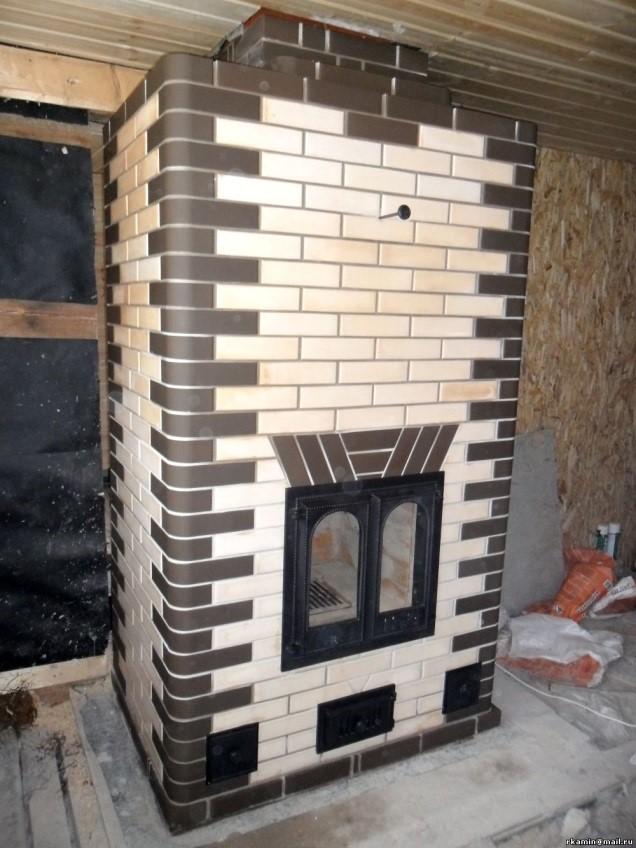 Угловая огнеупорная керамическая облицовочная плитка для печей